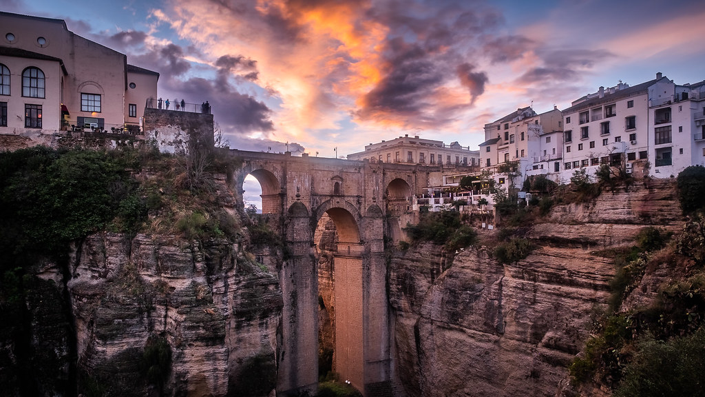Sunset in Ronda, Andalucia, Spain picture