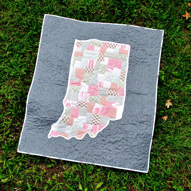 Indiana applique baby quilt