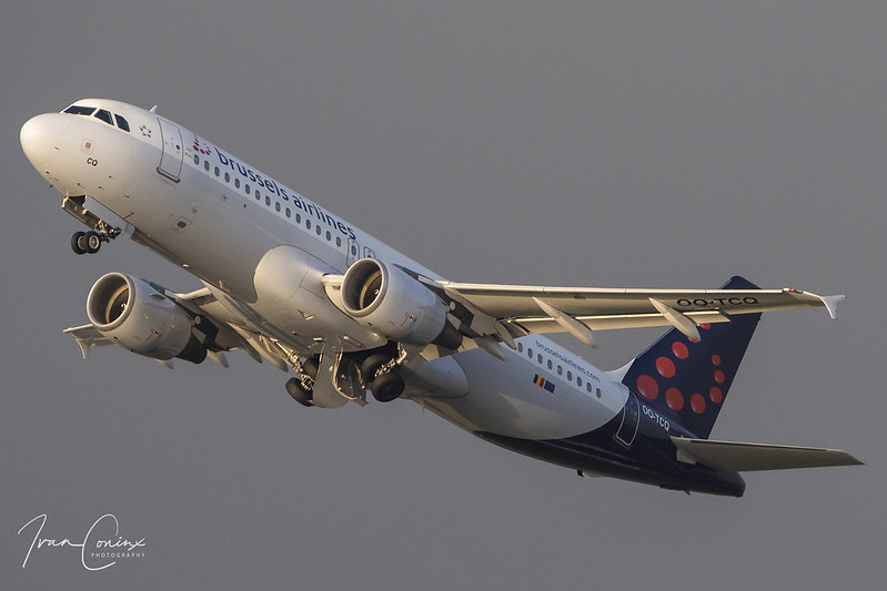 Airbus A320-214 – Brussels Airlines – OO-TCQ – Brussels Airport (BRU EBBR) – 2018 10 19 – Takeoff RWY 25R – 01 – Copyright © 2018 Ivan Coninx