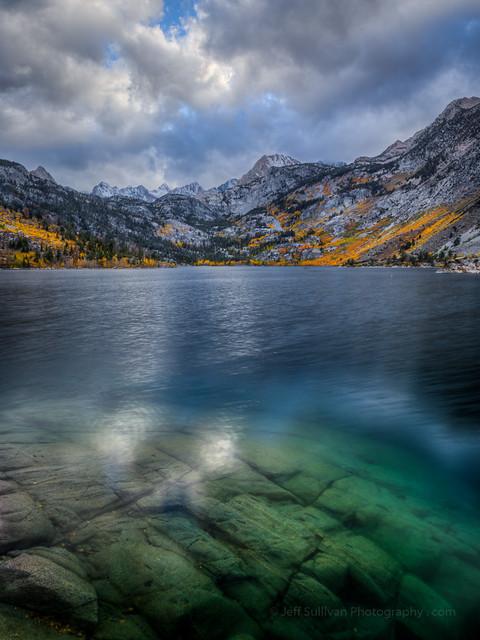 Cloudy Fall Reflection, Lake Sabrina