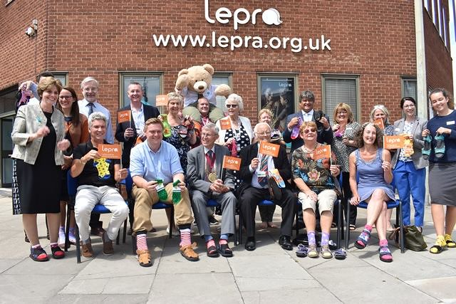 Essex councillors, Will Quince MP, the Mayor of Colchester and Lepra staff