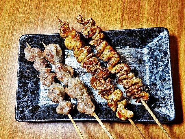 Skewers - Sunagimo / Chicken Gizzard, Torikawa / Chicken Skin