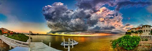 360 apollobeach architecture beachlife boardwalk boating clouds dusk florida homes imran imrananwar jetski lifestyle luxury neon panorama pastels realestate seaside sky sunset tampabay water waverunner