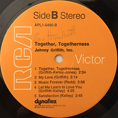 JOHNNY GRIFFITH, INC.:TOGETHER, TOGETHERNESS(LABEL SIDE-B)