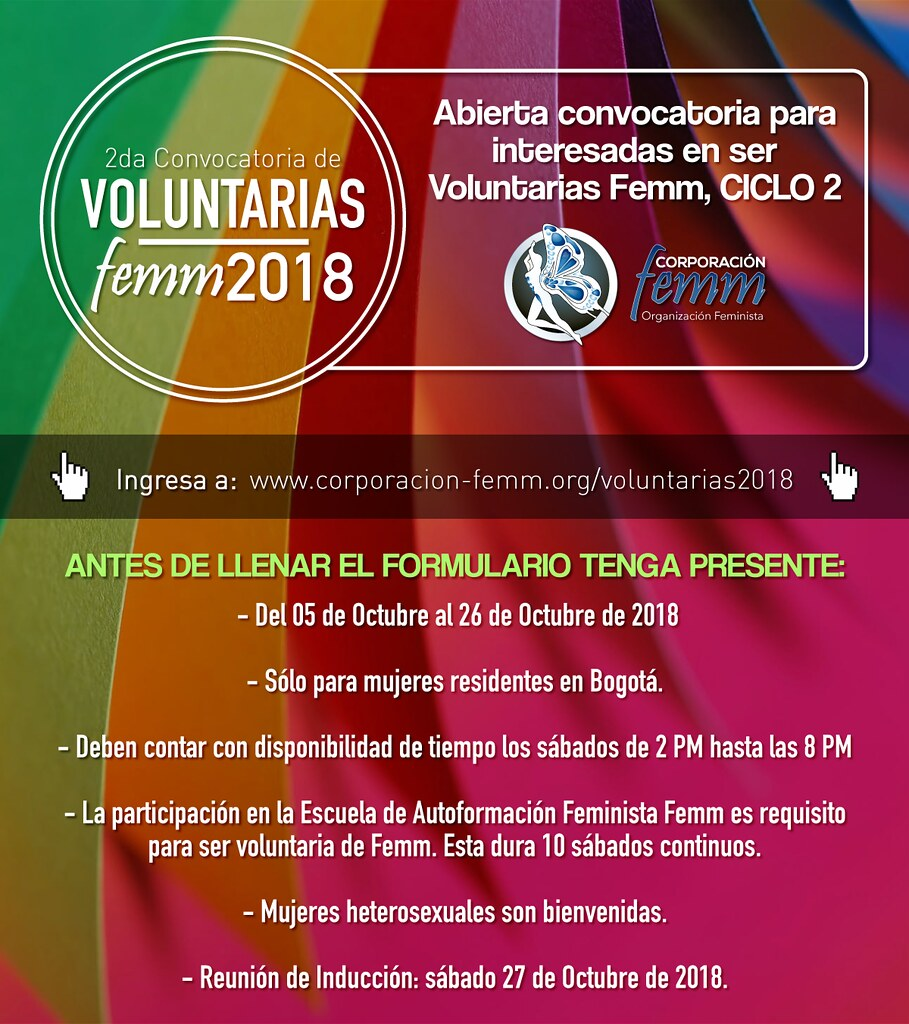 Voluntarias Ciclo 2 de 2018