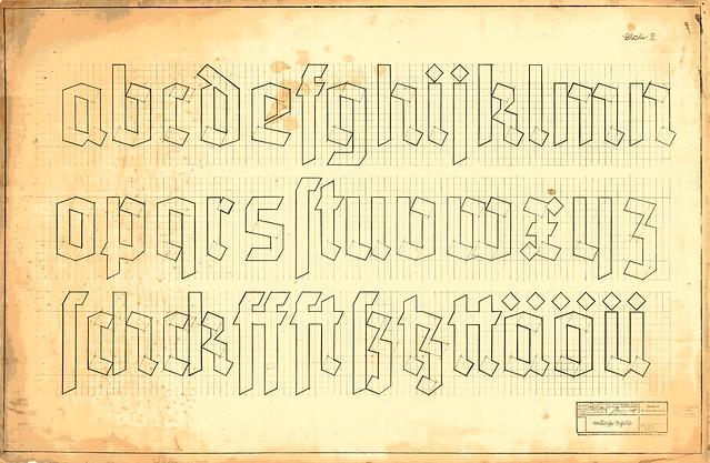 Reichsbahn Deutsche Schrift, Blatt 2