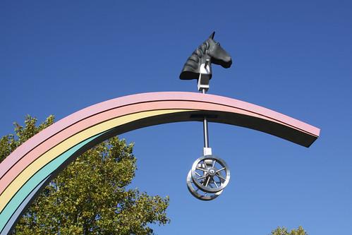 Steckenpferd träumt mit dem Regenbogen