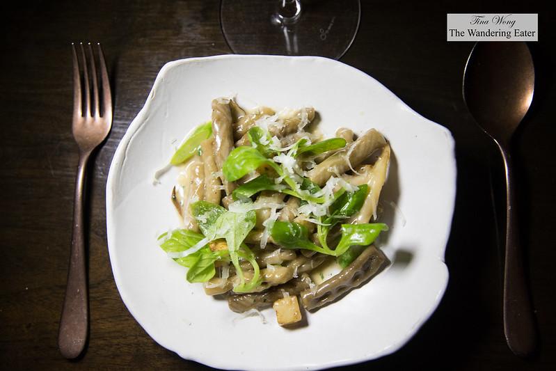 Strascinati, mushroom, roasted celeriac, pecorino