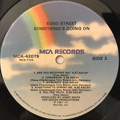52ND STREET:SOMETHING'S GOING ON(LABEL SIDE-B)