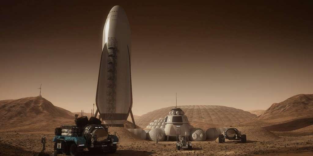 Une base sur Mars d'ici 2028 selon Elon Musk
