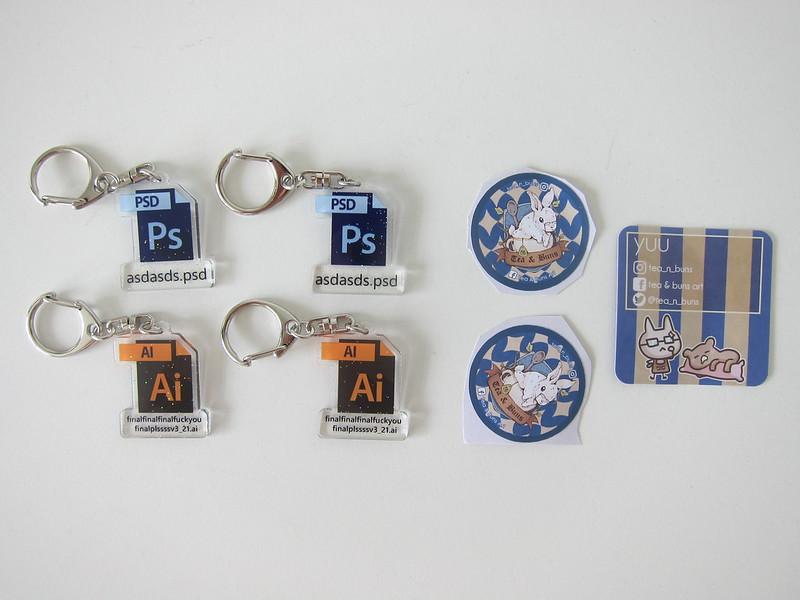 Tea and Buns - Photoshop (Ps) and Illustrator (Ai) Keychain