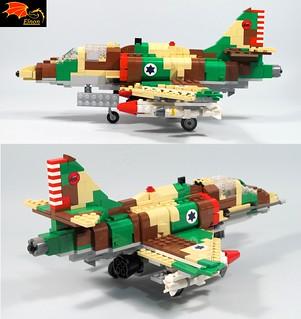 A-4 Skyhawk Side rear views