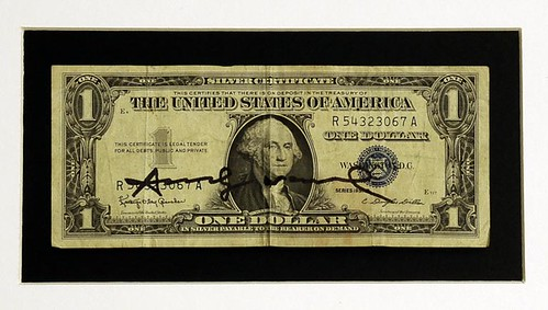 Dollar Bill Signed by Andy Warhol