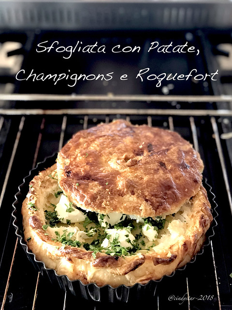 torta patate champignons roquefort