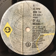 BY ALL MEANS:LET'S GET IT ON(LABEL SIDE-A)