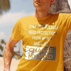 Only Snowflakes Need Protections From Words and Ideas - Change My Mind. Gildan Ultra Cotton T-Shirt. Gold.  | Loyal Nine Apparel