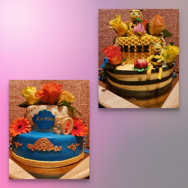 Royal Dubble Side Birthday Cake by Hobby Taarten