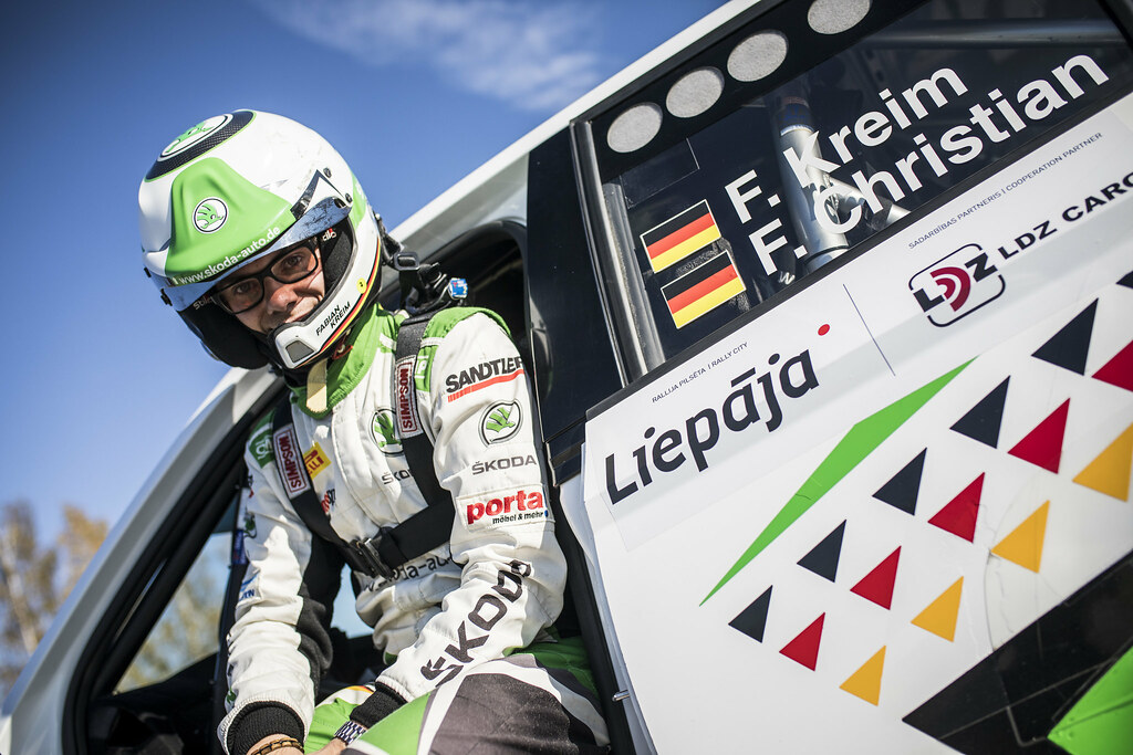 KREIM Fabian, (DEU), Skoda Auto Deutschland, Skoda Fabia R5, Portrait during the 2018 European Rally Championship ERC Liepaja rally,  from october 12 to 14, at Liepaja, Lettonie - Photo Gregory Lenormand / DPPI
