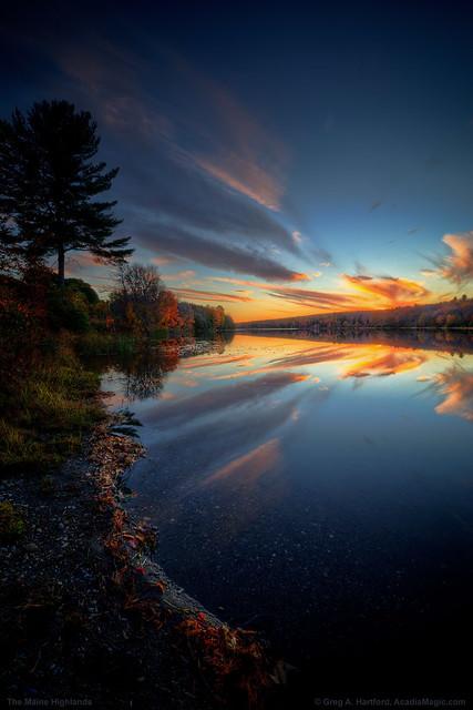 Sunset on Maine Pond