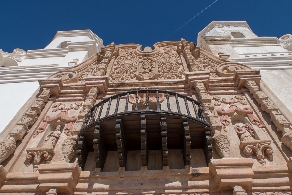 Closeup of details at Mission San Xavier
