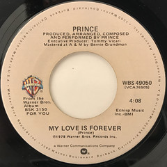 PRINCE:I WANNA BE YOUR LOVER(LABEL SIDE-B)
