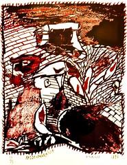 Passe-muraille (1990) - Alechinsky (1927)