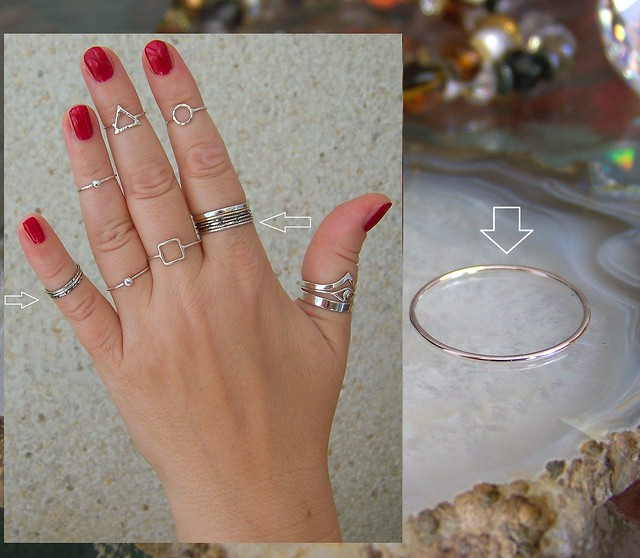 Band ring 1mm. Sterling Silver