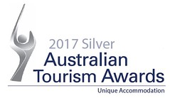 Australian Tourism Awards 2017 Silver Unique Accommodation