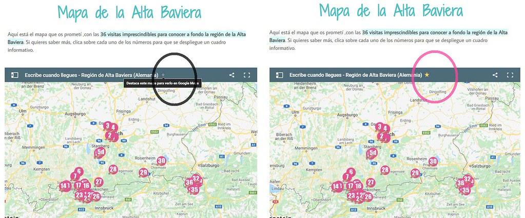 Marcando el mapa como favorito y sincronizarlo con tu cuenta de Google Maps