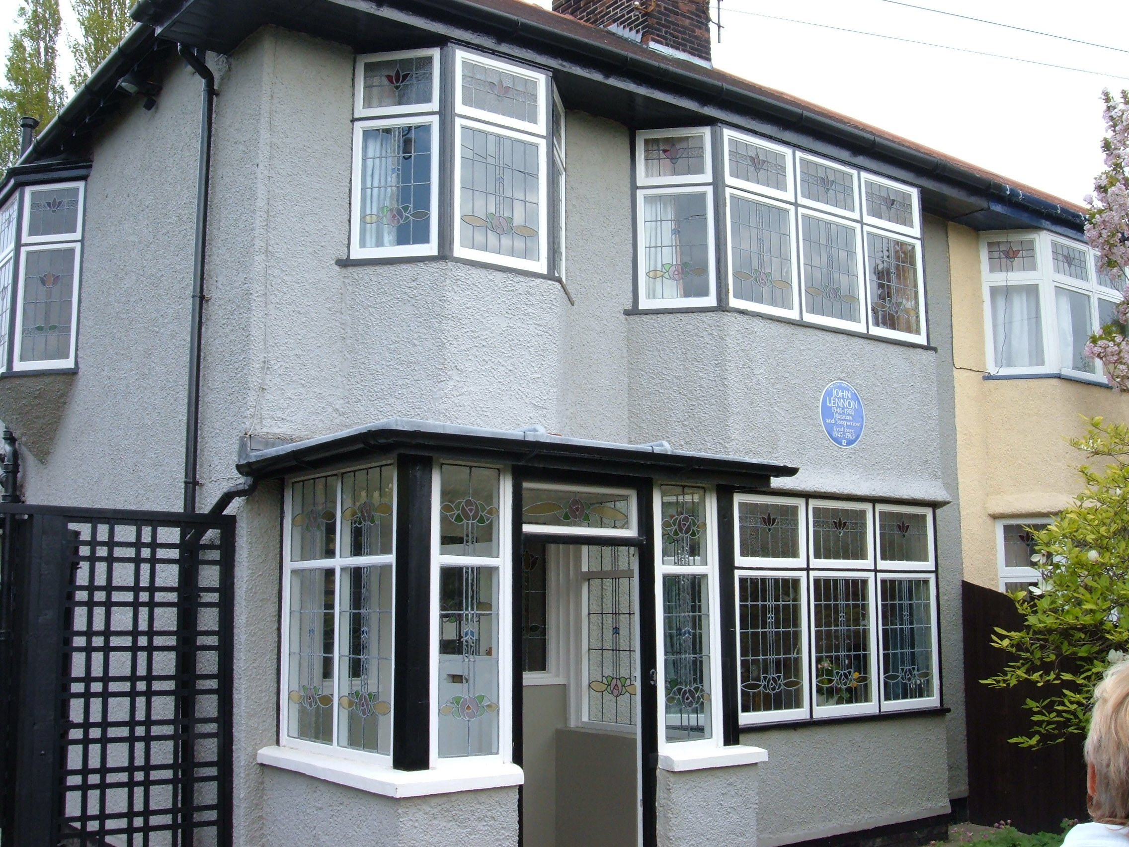 251 Menlove Avenue in Liverpool, England, named Mendips (after the Mendip Hills), is the childhood home of John Lennon, singer and songwriter with The Beatles. The Grade II listed building is preserved by the National Trust. Photo taken on May 23, 2006.
