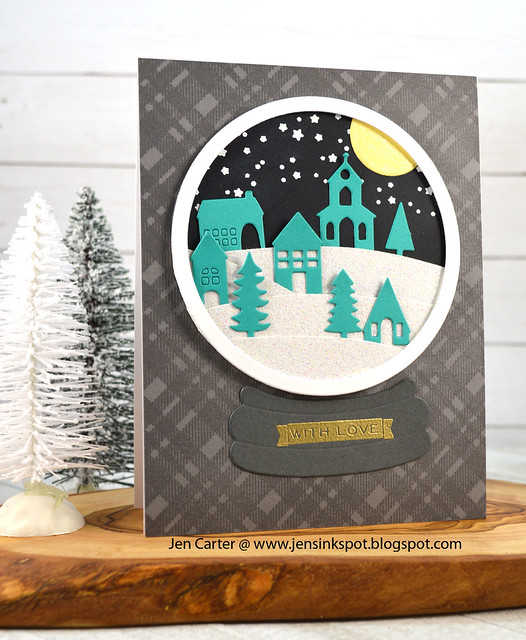Jen Carter CP Winterhaven Snow Globe Plaid A-Caroling