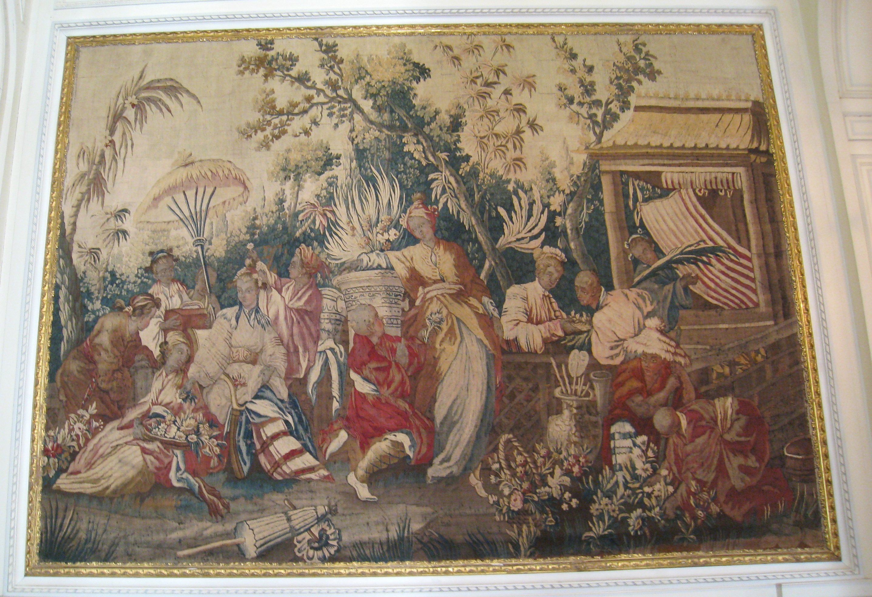 Chancellerie tapestry by Gobelins, circa 1680. Photo taken at Musée Nissim de Camondo, Paris, France, on February 7, 2008.