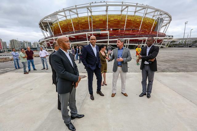 Visita do ministro do Esporte de Cabo Verde ao Rio de Janeiro