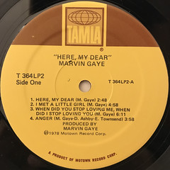 MARVIN GAYE:HERE, MY DEAR(LABEL SIDE-A)