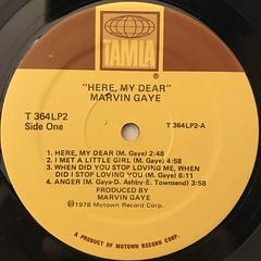 MARVIN GAYE:HERE, MY DEAR(LABEL SIDE-A)