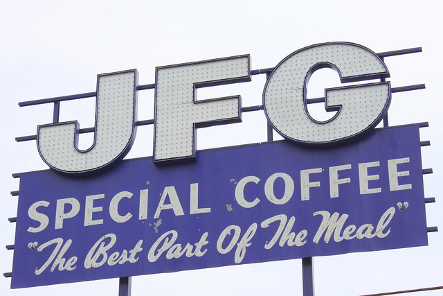 JFG Special Coffee sign - Knoxville