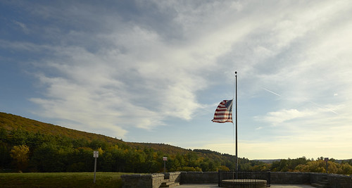 usa flag autumninnewengland halfmast sky skyandclouds landscapephotography landscape clouds