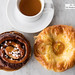 Nutella broiche swirled bun and apricot danish