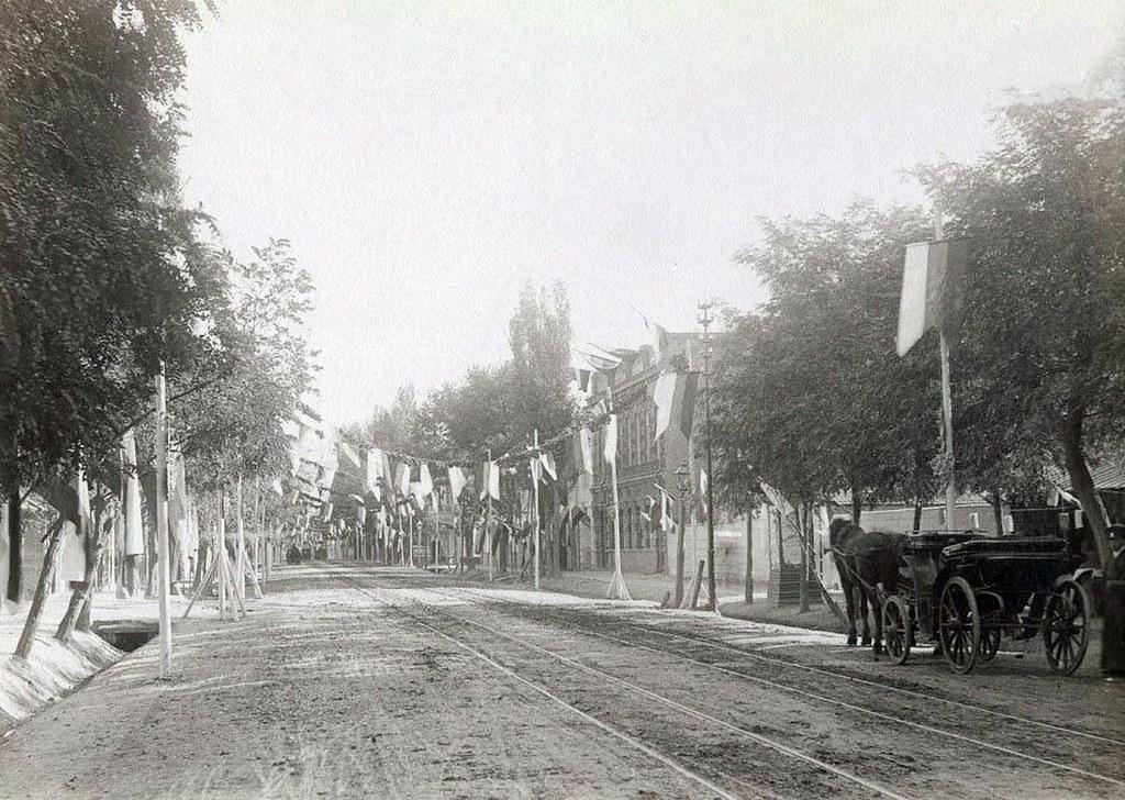 В дни пребывания Их Императорских Величеств в Тифлисе. Михайловская улица