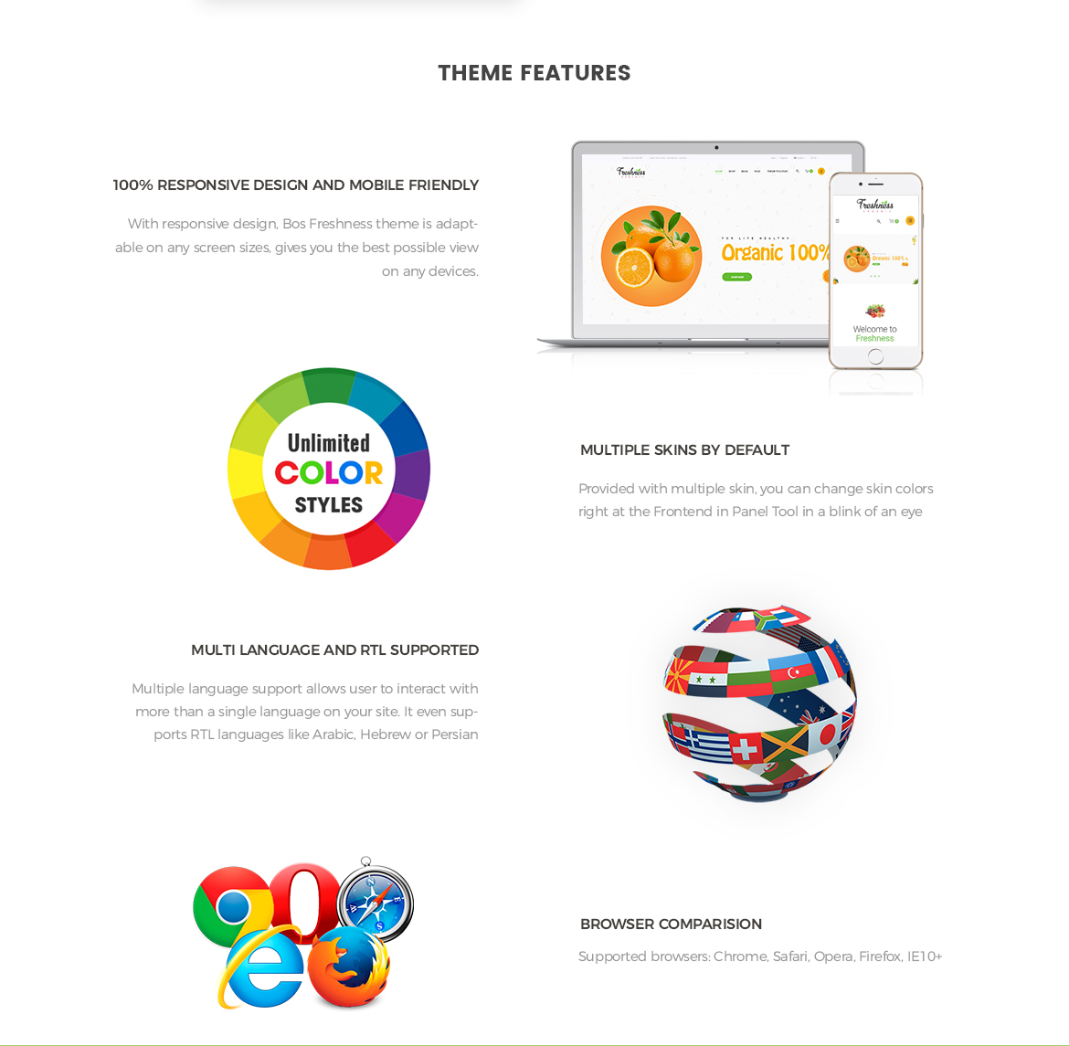 Prestashop 1.7 theme features-Bos Freshness - Food Prestashop Theme