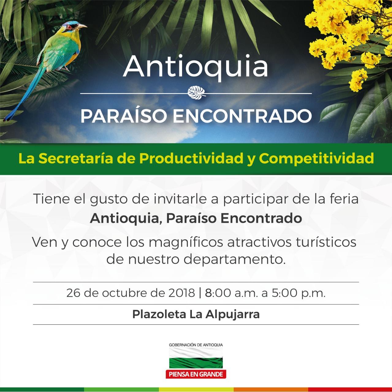 Antioquia, Paraíso Encontrado