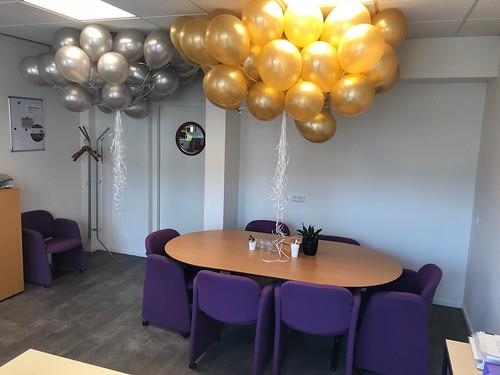 Heliumballonnen Metallic Goud en Zilver Gemeentehuis Woudrichem