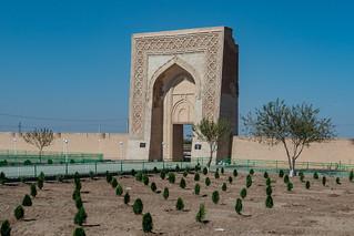 Hauptportal der Karawanserei Rabat-e Malik