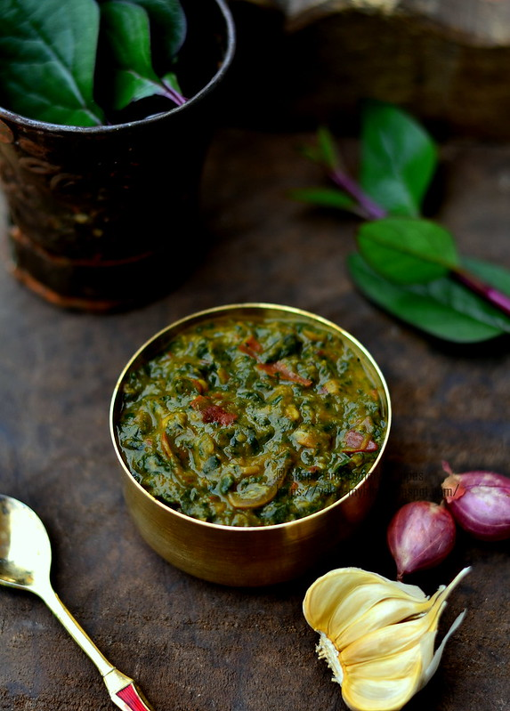 Mashed Indian Spinach with Dal