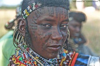 Woodabe pierced young, make up waiting for Gerewol - Tchad (Massenya area)