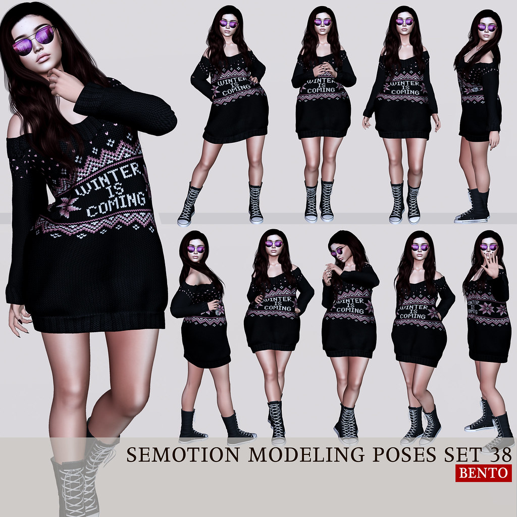 SEmotion Female Bento Modeling poses Set 38