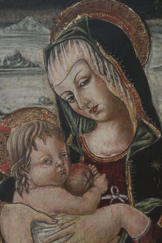 Part of Madonna col Bambino e sant' Onofrio, Carlo Crivelli, Venezia 1430-35)