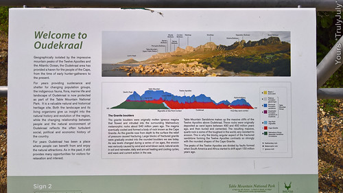 Interesting: Oudekraal's history is explained on informative signs.
