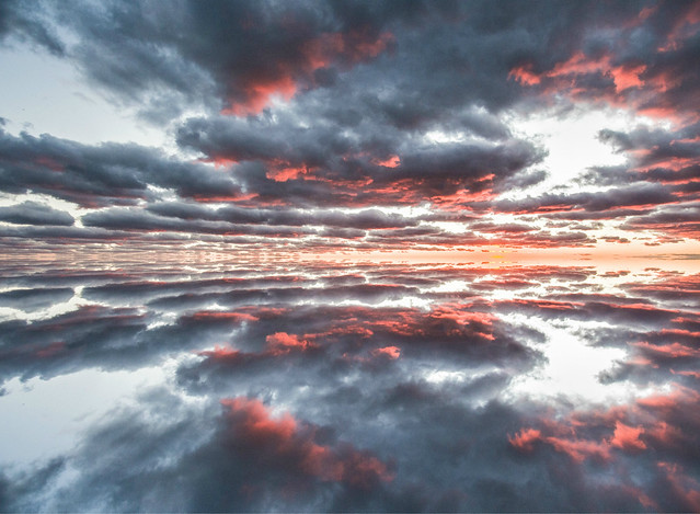 Mirror image.Lake Huron,Bayfield Ontario Canada.