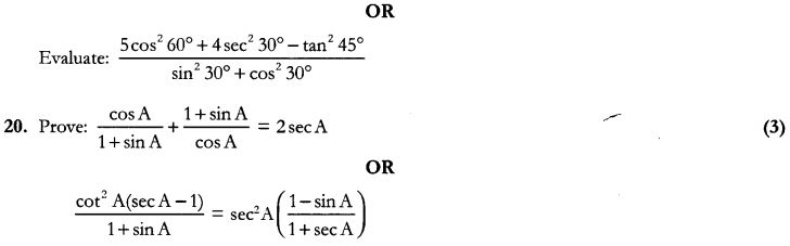CBSE Sample Papers for Class 10 Maths Paper 1 6